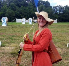 Shooting at the archery range at Pennsic.